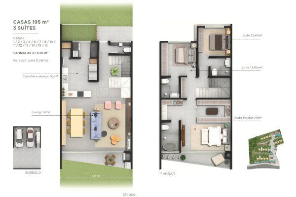 195 m²