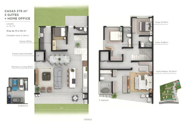 275 m²